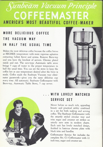 Sunbeam Coffeemaster pdf scan