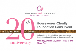 Housewares Charity Celebrates 20th Anniversary